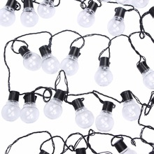 10m 38 led wedding globe fairy string light christmas light bulb garland clear outdoor led string fairy light party garden home