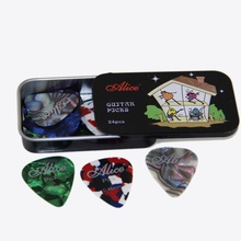 Electric & Acoustic Guitar Picks 24 pcs of  Alice Picks in one box Colorful Guitar Picks