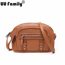 UU Family 2016 Summer Half-Moon Women Bag Panelled Bag Satchel Ladies Shoulder Hand Bag Crossbody Bag Women China Brand Handbags