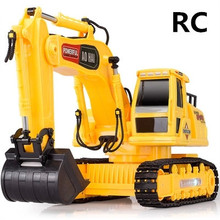 Electric engineering vehicles toys,1:24  Wireless Excavator , 8 channel  remote control, excavator truck, free shipping