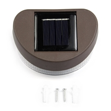 Outdoor Solar Power LED Path Wall Mount Landscape Garden Fence Light Lamp Bulb L15(China)