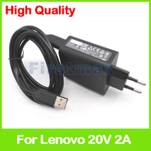 20V 2A 5.2V 2A USB AC Power Adapter for Lenovo Yoga 3 Pro 13-5Y70 13-5Y71 tablet pc charger 36200566 ADL40WCG ADL40WCH 36200567(China)