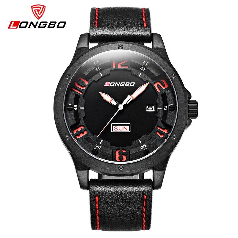 LONGBO Top Brand Luxury Military Army Quartz Watch Men Clock Waterproof Sports Wristwatches Leather Relogio Masculino 3009<br>