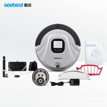 Seebest C565 EVA 2.0 Robotic Vacuum Cleaner LCD Screen, HEPA Filter, Auto Clean and Recharge Cleaning Robot,(China)