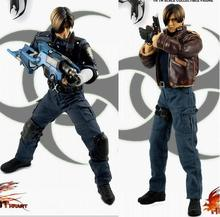 "1/6 scale figure doll Game ver.ResidentEvil4 Leon Police uniforms or Leather clothing.12"" action figures doll.Collectible figure"
