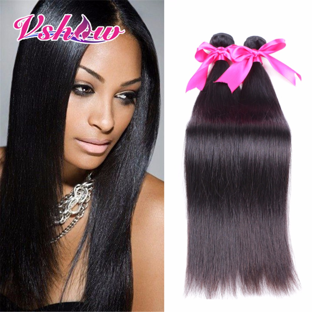 Grade 8A V SHOW Hair Products Indian Virgin Hair Straight Best Quality Human Hair Bundles On Aliexpress 4 Pcs Lot FREE SHIPPING<br><br>Aliexpress
