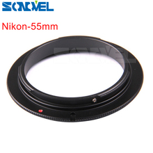 Buy 55mm Macro Lens Reverse Adapter Ring Nikon AI AF Mount D7500 D7200 D5600 D5300 D3400 D3300 D850 D750 AF-P 18-55mm lens for $2.69 in AliExpress store