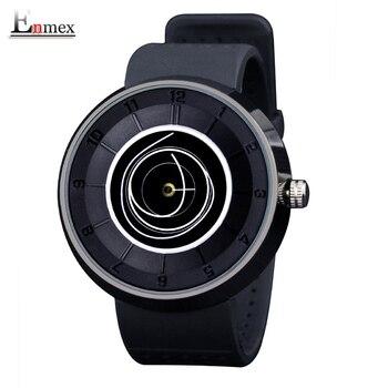 2016 dos homens presente Enmex neutro bobina projeto mãos cinta moda simples relógios de quartzo relógio de pulso dial criativo respirar livremente