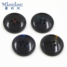 TN10 real buffalo Horn button fashionable dyed decorative buttons natural button Suit Button garment accessory sewing DIY(China)