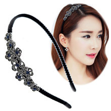 Fashion Shiny Women Fashion Rhinestone Head Jewelry Headband Head Piece Hair Band Bridal Hair Accessories Flower Hairwear wy0035