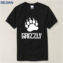 Customize Gildan 2018 Hot Selling Grizzly Tops Tees Crew Neck Men's t shirt Short Sleeve Motion Animal Cotton Broadcloth(China)