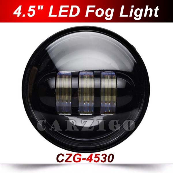 CZG-4530 2016 top sell 4.5 round accessories 4.5 inch 30w led fog light headlight 4 1/2 fog lamp for Harley Davidson motorcycle<br>