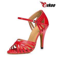 Evkoodance Gold Blue Red Heel Height 8.5 cm Dancing Shoes Size US 4-12 Professional Dance Shoes For Girls Evkoo-418