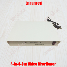 AC220V 4 In 8 Out Composite BNC Connector Video Distributor 4-8CH Video Splitter Signal Gain Amplifier for CCTV System