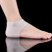 Foot care for legs 1Pair Plantar Fasciitis Shock Silicone Gel Sleeve Protective Heel Cracked Foot Skin Care Pain Relief