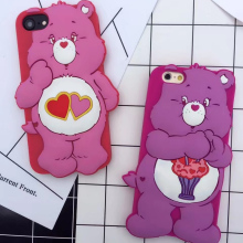 2017 New phone silica cover for iPhone 6S Cute Rilakkuma Bear Silica Gel Case for iPhone 6 / 6s 4.7 Inch 8 8Plus 7 7Plus(China)