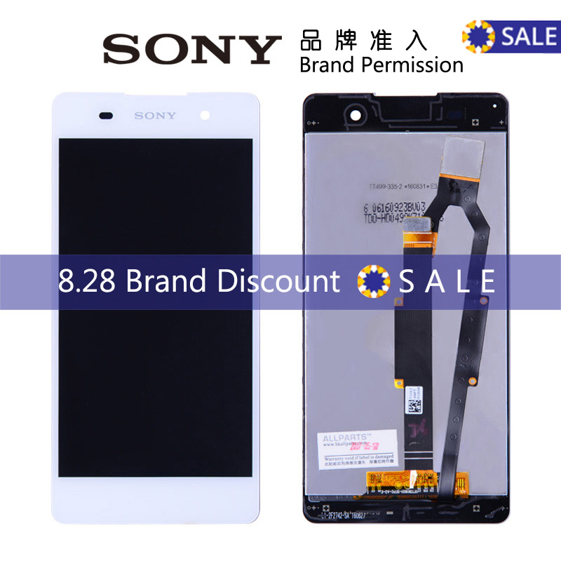 100% Tested Original 5'' 1280x720 LCD SONY Xperia E5 Display Touch Screen Digitizer Replacement SONY Xperia E5 LCD F3311 F3313(China (Mainland))