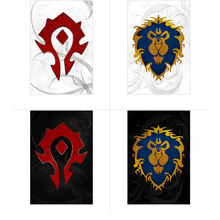 Alliance Horde Logo World of Warcraft WOW Game Photographic Paper Waterproof Poster Home Internet Bar Decor Paint Gift Posters