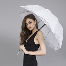 Creative Folding Sunscreen Umbrella Wedding Red Umbrella Sunny and Rain Umbrella Outdoor Bumbershoot Women's Parasol Rain Gear