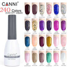 181-206 Hot sale CANNI 15ml soak off uv nail gel polish color paint big jar cheap uv nail gel color soak off polish lacquer 15ml