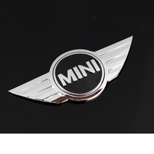 3D Metal Funny Car Stickers Car Front Badges Emblem Trunk Tail Stickers MINI Logo Car Body Sticker Decorations for Mini Cooper