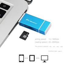TF card reader sd card adapter for Apple iphone 6s 7 plus Pendrive metal Expansion OTG USB flash drive 3 in 1 memory stick(China)