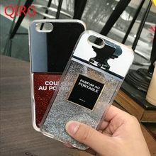 Luxury Liquid Quicksand Glitter Mobile Case For Apple iPhone 7 Plus 6 6s 6 Plus Perfume Bottle Smartphone Cover Brand Coque