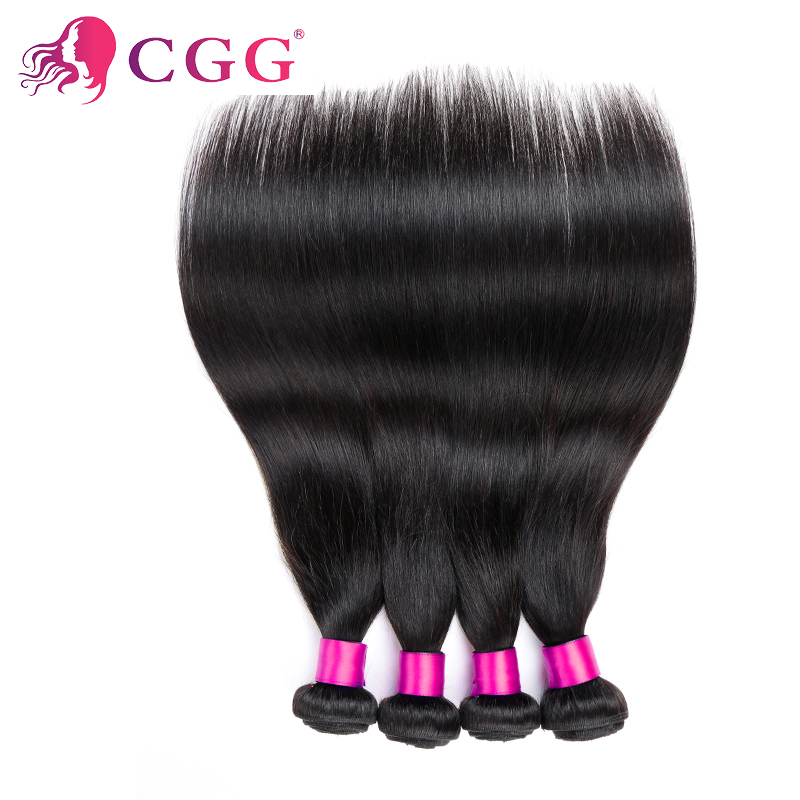 Unprocessed 4 Bundles Brazilian Virgin Hair Straight 100% Human Hair Weft Prom CGG Hair Products Brazilian Hair Weave Bundles<br><br>Aliexpress