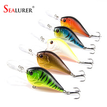 5pcs/lot fishing lures 9.5CM/11G fishing bait wobbler pesca minnow bass lure crankbait fishing tackle(China)