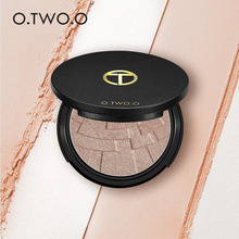 O.TWO.O Highlighter Powder Makeup Palette Brighten Bronzer Glow Women 3D Face Base Contouring Powder Baked Shimmer Highlight Kit