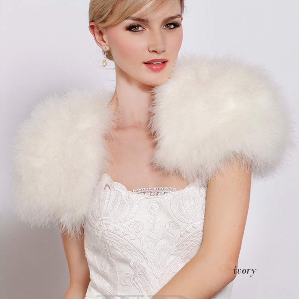 6 AO780-1 -white-wedding-feather-bolero-