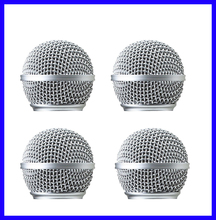 4PCS High Quality Replacement Ball Head Mesh Microphone Grille for Shure SM58 SM58S SM58LC Accessories