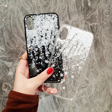 Buy Luxury Bling Glitter Snowflake Phone Case iPhone 8 7 6 6S Plus Soft TPU Silicone Clear Cases Back Cover iPhone6 S X Capa for $2.99 in AliExpress store