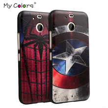 For HTC 10 EVO /D10 PRO D10L  case 3D Relief painting soft Silicon back cover cases Marvel Spiderman Batman Captain America