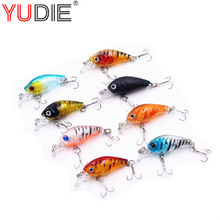 1pcs 4.5cm 4g Transparent Plastic Crank Hard Lure Fishing Lures Minnow Crank baits 3D Fish Eye Lure Hooks Bait Wobblers Spinner(China)