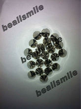 ree shipping2012 fashion ABS 6mm silver plastic spike studs rivets hand sewing on nailhead DIY jewelry accessories 1000pcs/lot
