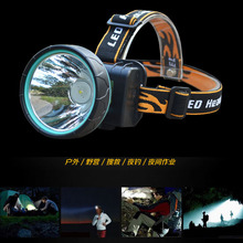 3000 Lumens LED Headlamp Head Lamp Waterproof Rechargeable Cycling Fishing Yellow White Blue Light Headlight + Battery +Charger