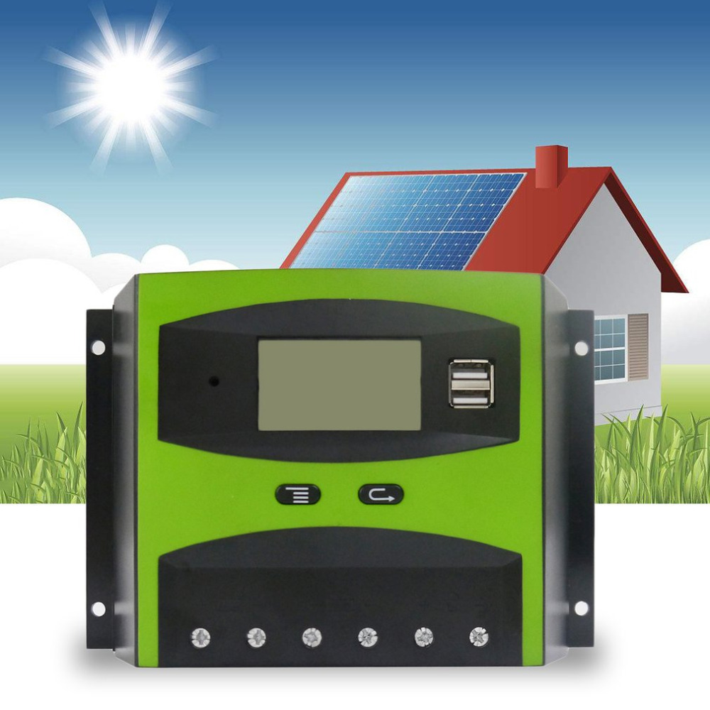 Hot 12V 24V 50A Solar Charge and Discharge Controller  LCD Screen With Auto Temperature Compensation Brand NEW<br>
