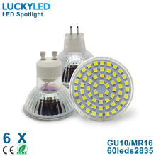 LUCKYLED Brand 4W GU10 MR16 LED lampada lamp Light AC110V 220V NO Dimmable Led Spotlight Warm / Cool White LED Spot light bulbs(China)