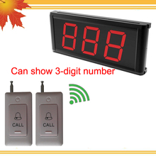 Electronic waiter pager pager of 1pc display board K-403 can show 3-digit number and 20pcs caller button DHL free shipping free