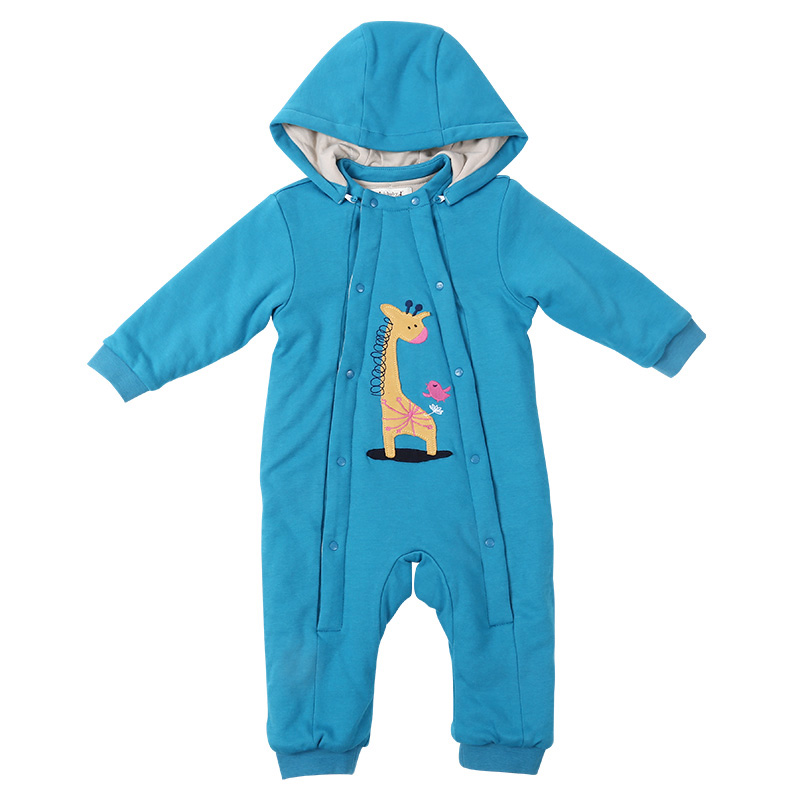 i-baby Baby Hooded Rompers Newborn Clothes 100% Cotton Long Sleeve Jumpsuits With Liner Infant Clothing Deer Boys Girls<br>