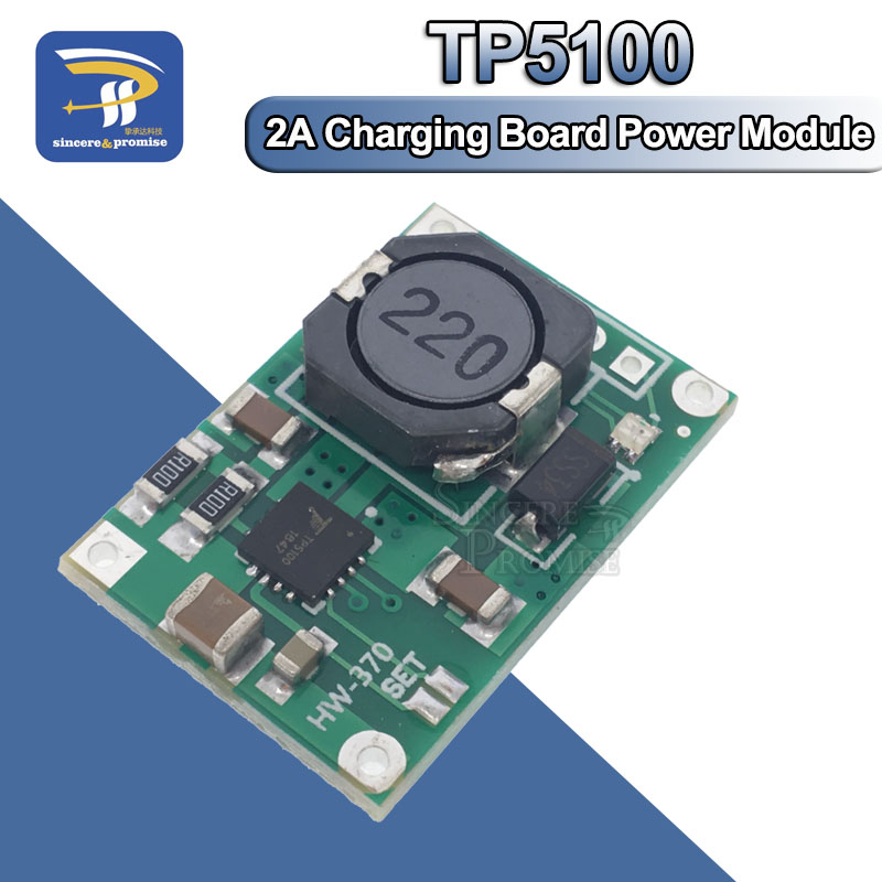 TP5100 double single lithium battery charge management compatible 2A rechargeable lithium plate 18650 TP5100 4.2V 8.4V