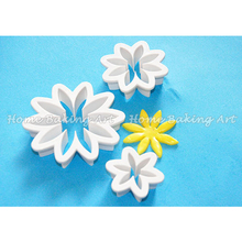 Daisy flower cake design fondant cake cutter high quality cake decorating plastic cutter useful sugar art tools
