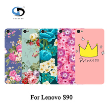 Fashion Cute Lovely Rose Peony Beautiful Flower Floral Drawing Hard Plastic Case For Lenovo S90 Case Skin Back Cover