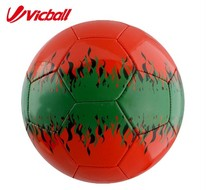 2016PVC  soccer ball size 5  training balls red color for adults