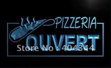 LK168- OUVERT OPEN Pizzeria Pizza Cafe LED Neon Light Sign home decor crafts(China)
