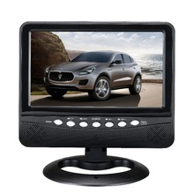 7 inch Multimedia Portable TV With TV Black Color Wide View Angle