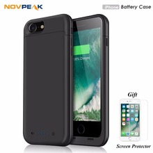 Portable 8 Battery Case Ultra Slim External Battery Charger Case 4 Led Back Up Power Case for Apple iPhone 7 7 Plus 8 8 Plus(China)