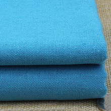wholesale 100*140cm flax linen material for clothing soft linen cotton fabric for dress skirt blue linen fabric tecido