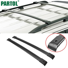 Partol Black Car Roof Rack Cross Bars 150LBS 68KG Aluminum Cargo Luggage Carrier Top For Honda Odyssey 2005-2010 EX LX Model(China)